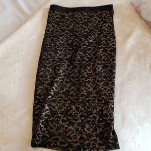 Black and Gold pencil skirt